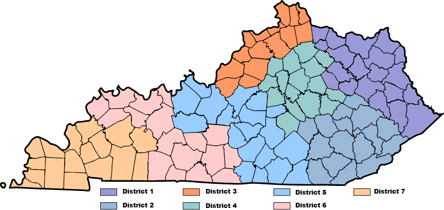 KY map